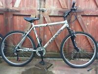 Saracen rufftrak front suspension mountain bike. Large frame. Can deliver