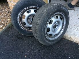 TWO TYRES FOR VW POLO VERY GOOD CONDITION