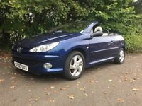 2005 PEUGEOT 206 Convertible 3dr Petrol, Manual (LOW MILES) Good Service History