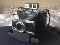 Polaroid Land 180 Camera in beautiful condition with Tominon 114mm lens - No battery required