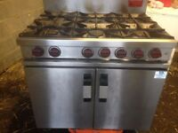 6 burner catering Cooker gas , good working condition ,buyer to collect