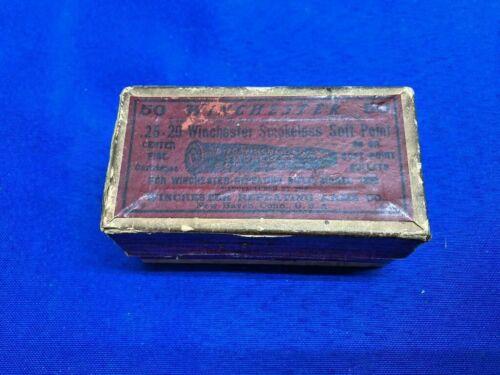Winchester 25-20 WCF  Empty Ammo Box