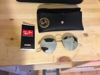 Ray ban polarised round frame men's sunglasses for sale