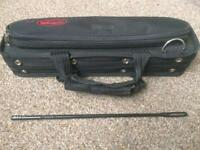 Stagg Flute Case with Cleaning Rod