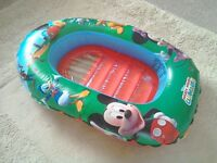 Children's inflatable ring and Disney Mickey Mouse inflatable dinghy / float / boat