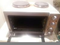 Mini Oven with 2x Hobs Grill & Rotisserie