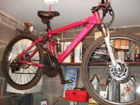 Girls Carrera Sol 24 Mountain bike 20 inch Pink