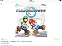 Wanted Mario kart Wii urgent