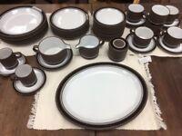 BEAUTIFUL  HORNSEA Contrast 44 piece dinner / tea set