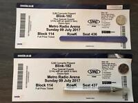 Blink 182 tickets x2 Newcastle 9th July 2017