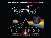 'BRIT FLOYD' Eclipse 2018 tour Ticket Sunday 18th March at Plymouth