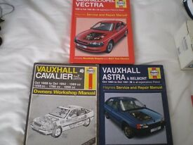 HAYNES CAR WORKSHOP MANUALS X 3 OLD MODELS. WILL SELL SEPERATELY