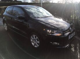 2014 VOLKSWAGEN POLO MATCH EDITION BLACK 26,000 MILES CAT D EXCELLENT CONDITION INSIDE AND OUT