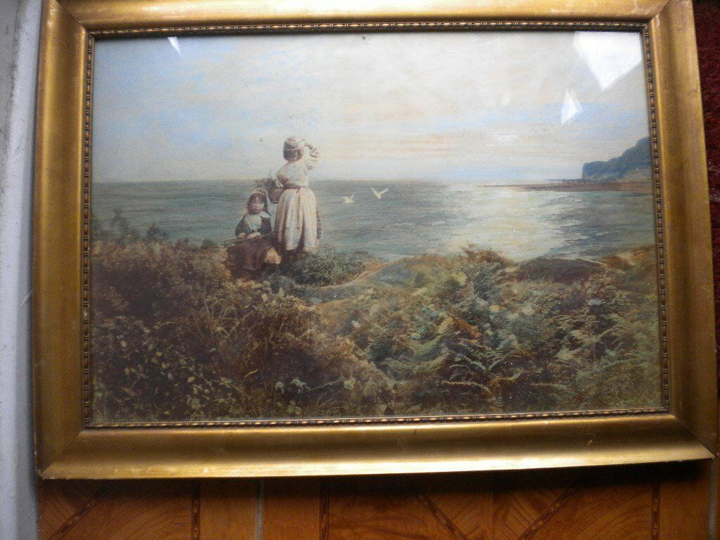 Henry Peach Robinson 1830--1901 PAINTING TITLE [OVER THE SEA] 1866 30X24 INCHES