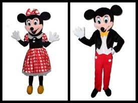 Mickey and Minnie Mouse Mascot Character Costumes TO BUY (not hire) Children's Party Mascot Hire