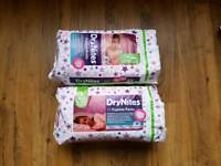 X20 DryNites pyjamas pants nappies size 4-7