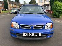 NISSAN MICRA AUTOMATIC 2001 1L ***LOW MILLAGE, 1 YEAR MOT***
