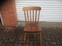 Set of 4 solid wood dining chairs. VGC. Bargain price for quick sale