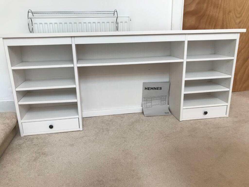 White Hemnes Ikea Desk Shelf Unit For On Top Of