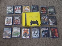 ps2 slim boxed with games