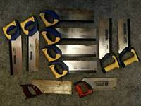 Tenon Saws / Crosscut Saws / Mitre Saws - (3 out of 10 SOLD)