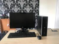 """Hp elite 8200 intel i5 2400 3.1 ghz 8gb ram 320gb hdd 22"""" LG HD refurbished full system"""