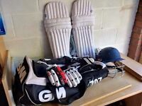 Quality Cricket Equipment for young youth (Helmet, Pads, Gloves, Thigh Pads, Cricket Bag)
