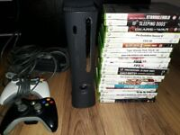 Xbox 120gb Console and games