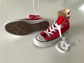 Converse All Stars - size 3.5 - Red - brand new, never worn