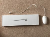 Genuine Apple USB Keyboard (MB110B/B) & USB Wired Mighty Mouse (A1152)