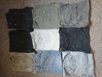 Ten pairs of maternity trousers, jeans and leggings - Size 10 short