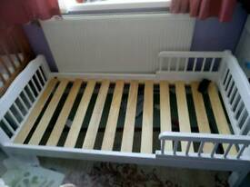 White Toddler Bed £40