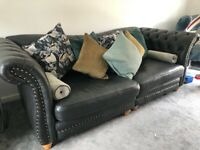MUST GO Oct 3rd!3 Piece SOFOLOGY Sofa set , Leather, Charcoal, 18 months old, perfect condition.