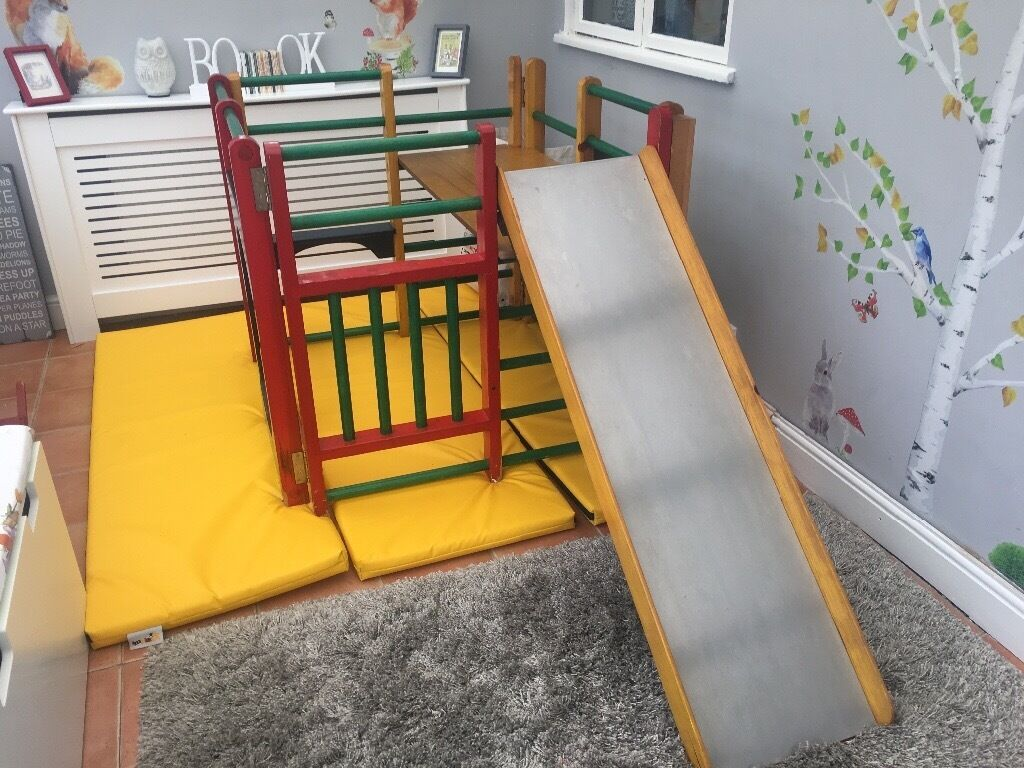 Indoor wooden slide and climbing frame BARGAIN | in Great Yarmouth ...