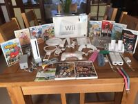 Nintendo Wii Sports Pack 512 MB White Console + full Sports Accessory Pack and Games