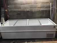 Commercial glass top display freezer