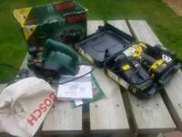 Stanley fatmax 18v drill and Bosch planner