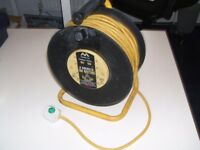 SOLD MASTERPLUG 50m 240v extension reel. 4 sockets. used and in great condition. SOLD