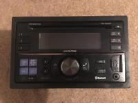 ALPINE CDE-W235BT DOUBLE DIN RADIO CD PLAYER AUX USB BLUETOOTH HANDSFREE.