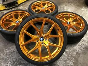19 POLISHED GOLD Staggered Wheels and All Season Tires (BMW CARS) ***ON SALE*** Calgary Alberta Preview