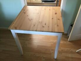 Small Square dining table.