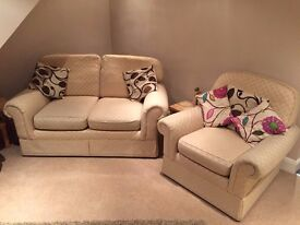 M&S 2 Piece Suite - 2 Seater Sette & One Chair