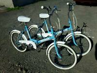 Universal Folding Bikes x 2, Each Bike For Sale at £60