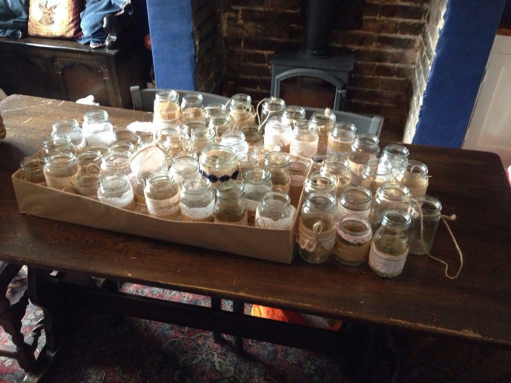 60ish decorated glass jars - wedding - party