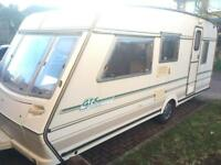 ABBEY 516GTS 5 BERTH FRONT AND REAR BED FULL AWNING CRIS REG. 1996