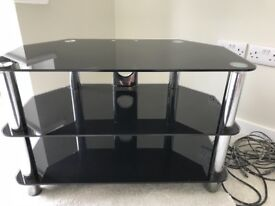 Black gloss TV stand £10