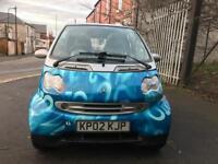 Smart car 2002 semi Auto 600 cc + ADVERTISING + convertible + 12 MONTHS TEST 2019 + AUTOMATIC
