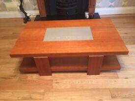 Matching Beech Wood Coffee & Side Table