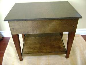 Vintage wooden end table/stool