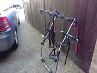 Bike rack takes 3 bikes universal fits most hatchback cars comes with all fitting starts vgc